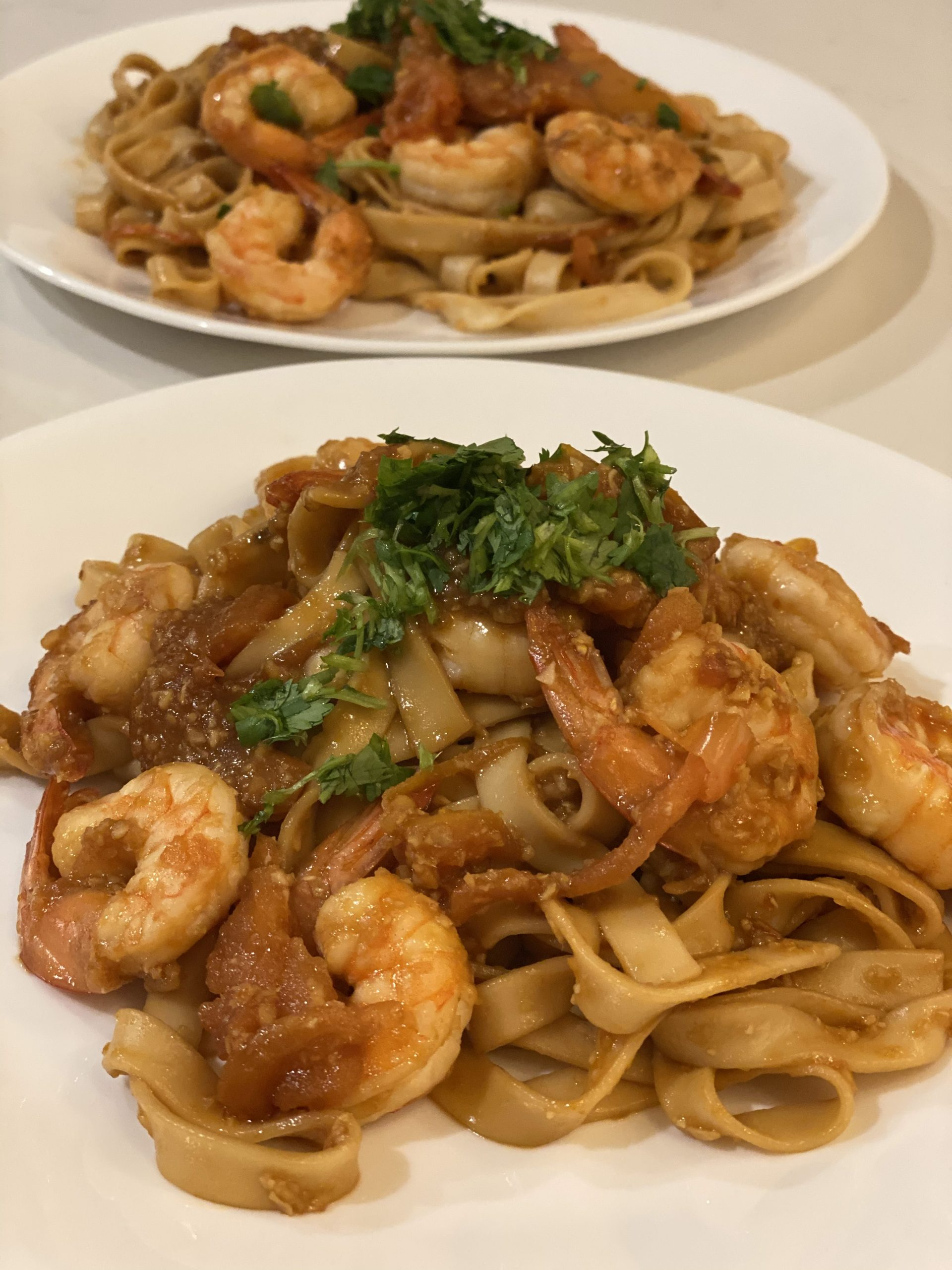 Asian Garlic Noodles with Shrimp